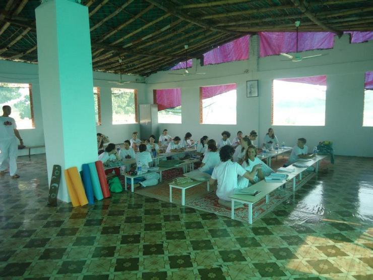 Ashram yoga hall
