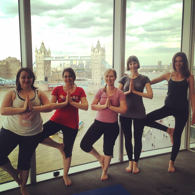 London and Partners corporate yoga class