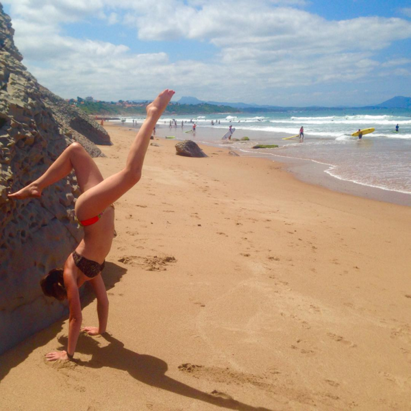beach yoga, Biarritz France