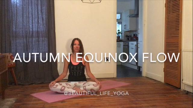 Autumn equinox yoga flow class