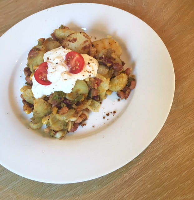 Simple cajun potato lazy brunch